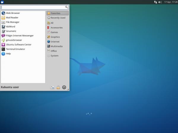 Une capture d'écran du bureau Xubuntu