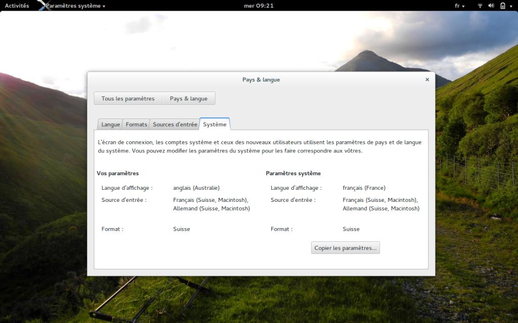 Configuration de la disposition clavier (layout) pour l'écran d'ouverture de session sous environnement graphique gdm Gnome