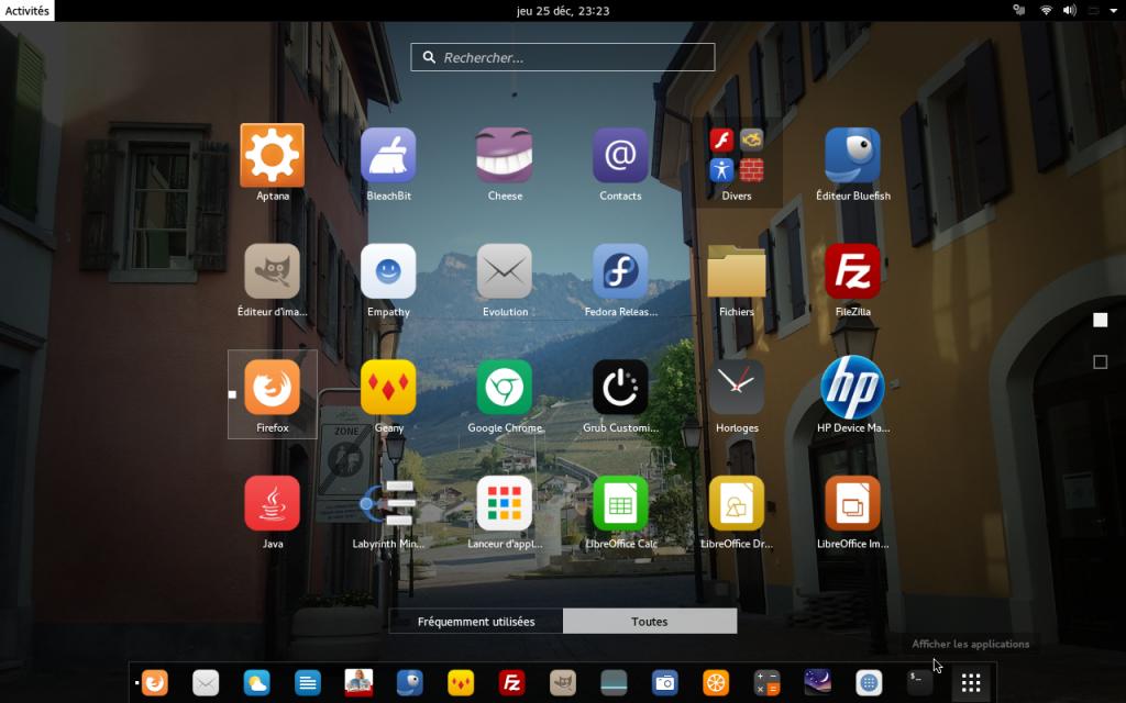 Capture d'écran du style graphique Valhalla avec icônes Vibrancy