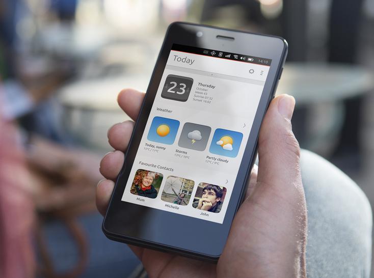 Téléphone portable cellphone BQ Aquaris E5 édition Ubuntu