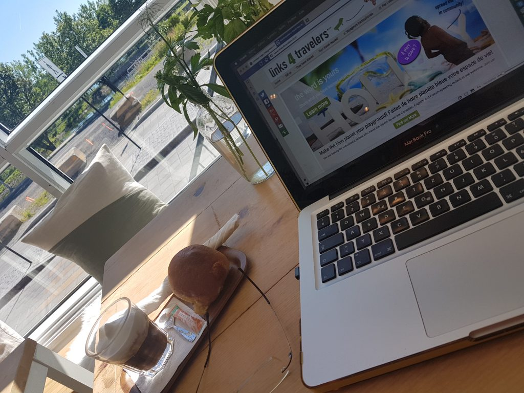 Pause chocolat avec Macbook Pro sur Elementary OS