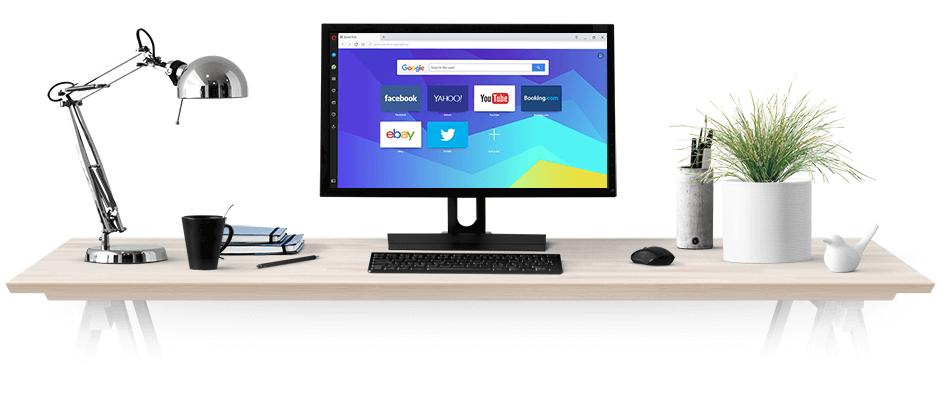Le navigateur Opera browser