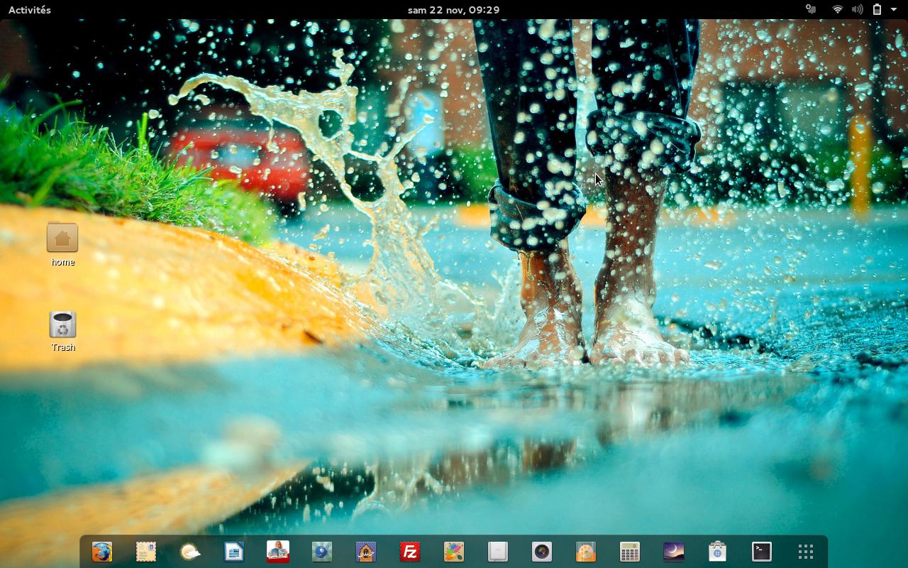 Capture d'écran d'un bureau GNOME 3